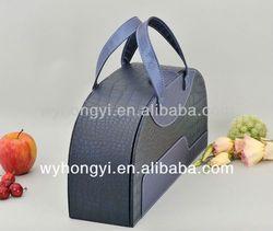 china manufacturer two bottles cardboard wine carrier
