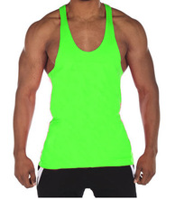 promotional custom made gym singlets/plus size cotton jersey gym tank top