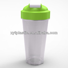 2014 Super New Design BPA Free Customized Wholesale Protein Disposable Milk Shake Bottle with Mixer Bottle Protein Shaker