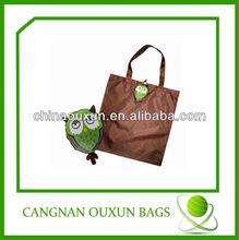 new design customized nylon foldable shopping bag pattern