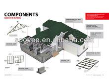 High level villa,,modular homes prefab house,simple small villa plans