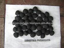 100% Quebracho Blanco Hardwood Pillow Shaped Briquette - 68% Fixed Carbon - Exceeds DIN Standards - For European Market-