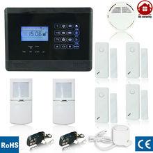 wireless gsm burglar alarm system can support all kinds of sensor