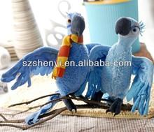bird soft toy Rio 2 plush parrot doll
