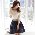 atacado 2014 primavera novo estilo de moda elegante rendas bordado beading chiffon camisa blusas os tamanhos grandes mulheres