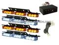 Ambre / blanc 4 X 9 clignotant 3 Mode 36 LED lumière stroboscopique Jeep Grille de trafic de sécurité