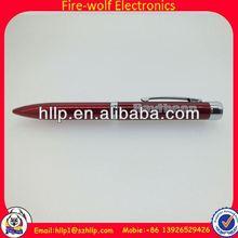Engraved promotion gifts Black ink low price LED flashing pen