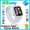 Multi-language stainless steal 3G cell phone watch mobile phone watch 3G sim card SD card to 32GB