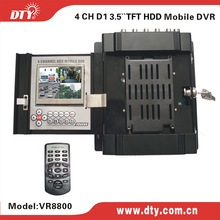 DTY VR8800 4 channel full D1 DVR vehicle camera recording systems