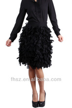 Ladies Fashion sexy Long Sleeve black tiered skirt 3d pictures of nude women