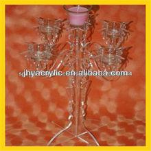 Newly arrival popular customized clear acrylic candleholders
