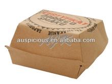 New listing hot food transportation box steak food paper tray