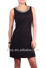 New Fashion ladies black dress clothes wedding dress kurta designs for women
