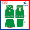 youth team uniform customized design basketball jersey green color