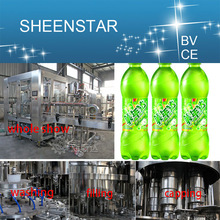 stainless steel aerated water washing filling and sealing machine with all certificates