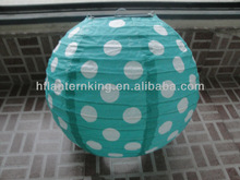 2014 Fairs new polka dots designs chinese paper lanterns