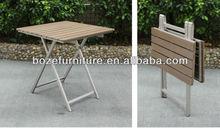 Handy Folding wood table / high quality picnic garden folding table