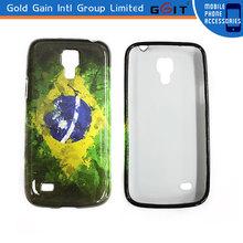 Soft Skin TPU case high gloss UV tpu case for samsung S4 mini i9192