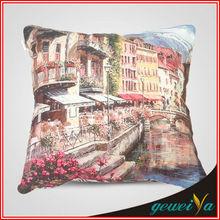 High Quality Cotton Oil Painting Digital Printing Cushion