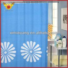 Big Floral Shower Drapes Bathroom Simple Curtains Models