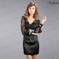 Ad022-w14 european top di marca classica elegante partito abito abito