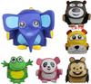 2014 New design Cute toddlers 3D kid child zoo pack animal bags rucksack lunchbag Elephant/monkey/panda/leopard/tiger