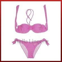 WELLA LINGERIE mini micro fancy Stripes Print sex girls bikini set