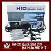 Wholesales 35W Xeno Digital Ballasts Car Headlight Bi-xenon HID Conversion KIT H4 Hi/Lo Beam 4300K 6000K 8000K 10000K 12000K