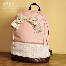 Super Hot Polka Dot Sweet Lace Backpack Tote Satchel Teenage Girls School Bag