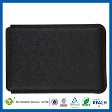 C&T Hot selling black pouch for ipad mini wallet leather case