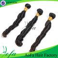 El precio de fábrica aliexpress 5a 100% grado virgen de pelo indio extensiones de cabello sintético