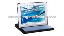 For iPad 2 Aluminum Alloy Ultrathin Wireless Bluetooth keyboar 360 Degree Rotatable folding keyboard cover case for ipad mini