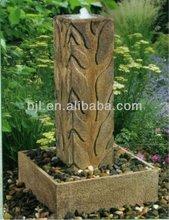 carving pillar solid granite stone fountain garden