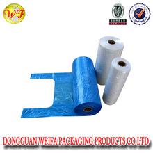 HDPE black plastic garbage bag on roll/black biodergradable plastic trash bag
