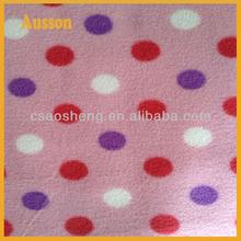 polyester dye polar fleece fabric with new design