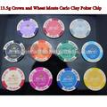 13.5g ton poker-chip krone und Weizen Monte Carlo aufkleber pokerchips