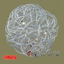 2014 china hot new home decoração bola de arame de metal forma lâmpada para manicure mesa