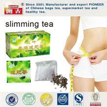 Slimming fruit tea herbal slimming tea bags Chinese slimming tea green box