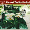 Luxury 3d flower printing king bed set 100% cotton bright color bed sheet sets wholesale nantong duvet cover cheap bedding set
