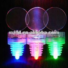 2014 gem shaped plastic wine bottle stoppers with LED lights,2 LED Bottle Stopper Light caps