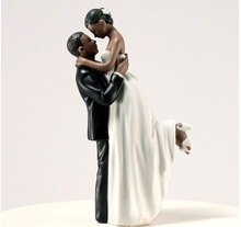 2014 Hot Selling ! True Romance Couple Figurine African bride and groom wedding cake toppers
