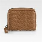 Fani zip-around coin purse/ Richly woven leather purse/ Smalll leather purse