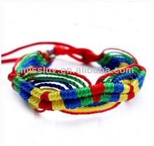 DIY Ethnic style colorful rope braided bracelet jewelry Friendship gifts bracelet jewelry DIY cotton and hemp cord woven bangles