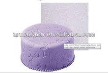 New!! -cake tool 50*50cm Fondant cake silicone mat pads+happy star design
