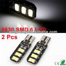 Car Canbus White T10 6 5630 SMD LED Panel Gauge Light Lamp Bulb
