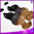 océano rizos omber dos tonos de pelo barato brasileño cabello tejido a granel en
