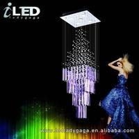 New design hanging ceilling led pendant crystal chandelier for events