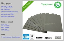 500gsm paper grey paper board for seperating hand bags paper