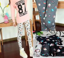 Spring New Korean Fashion Wild Owl Pattern Skinny Legging Cotton Capris Female Pencil Pants 9023