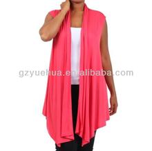 new women plus size black vest Open Front Wrap Asymmetrical sleeveless free size